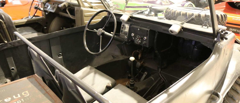 Prototyp-Museum: VW Typ 166 Schwimmwagen: Innenraum, September 2018