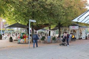 Steintorplatz mit Eiscafé, 2019