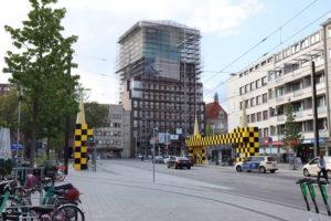 Kurt-Schumacher-Straße und Anzeiger-Hochhaus, September 2019