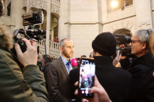 Großes Medieninteresse nach der Bekanntgabe...
