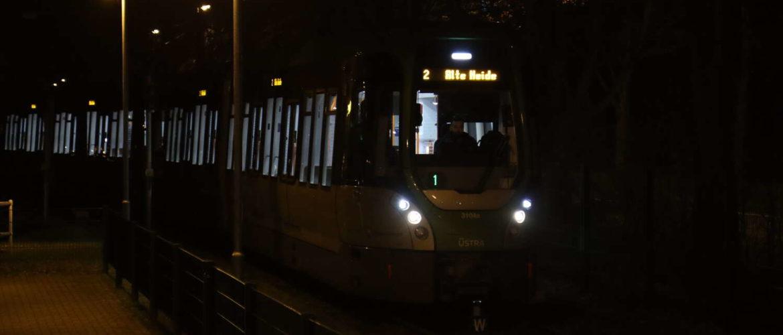 TW 3000 erreicht Alte Heide als Kurs 1 der Linie 2
