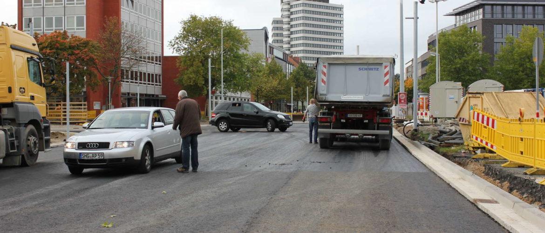 Neue Fahrbahn Celler Straße, Hannover, 2012