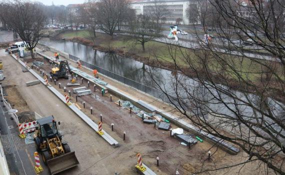 Baustelle Am Hohen Ufer, Hannover, Januar 2017