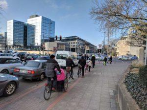 Kreuzung Berliner Allee/Schiffgraben: Unfallort (Archivfoto, März 2018)