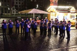 Marching Band auf dem Rathausvorplatz