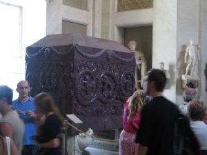 Sarkophag in den vatikanischen Museen, Rom/Vatikanstaat, August 2009