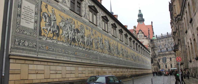 Fürstenzug in der Augustusstraße, Dresden, 2010