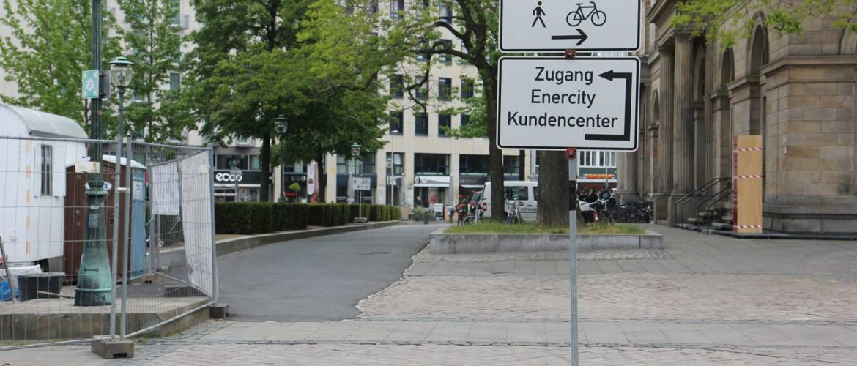 Fahrradumleitung Ständehausstraße, Hannover, 2016