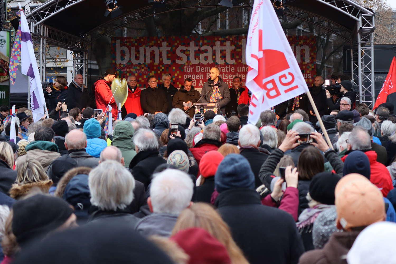 Bunt-statt-Braun-Demonstration, Rede von Oberbürgermeister Belit Onay, Hannover, November 2019