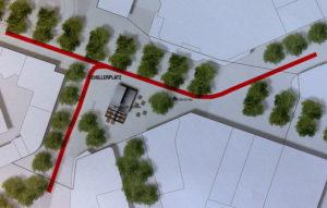 West 8 Urban strukturieren die Radverkehrsführung am Schillerdenkmal und auf dem City-Rad-Ring