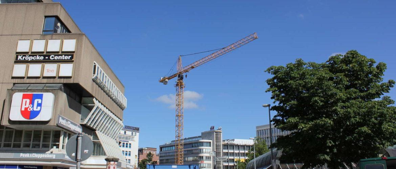 Kröpcke-Center vom Opernplatz aus gesehen, Hannover, Juli 2010